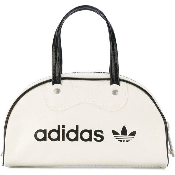 Adidas Originals mini Athletes bag ($52) ❤ liked on Polyvore featuring bags, handbags, tote bags, white, white handbags, mini tote, mini handbags, mini tote bags and round handbags