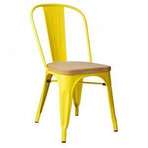 Yellow & Ash Metal Chair