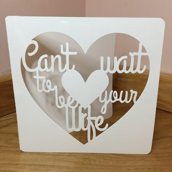 Custom Papercut Art Wedding card  FREE UK POSTAGE  by weheartcards