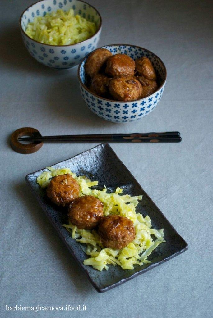 Polpette di maiale allo zenzero glassate alla soia