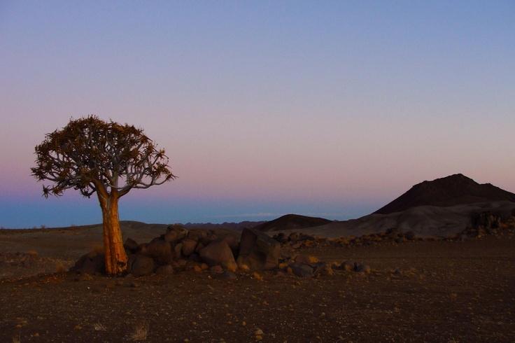 Namibia - the red desert at dusk.