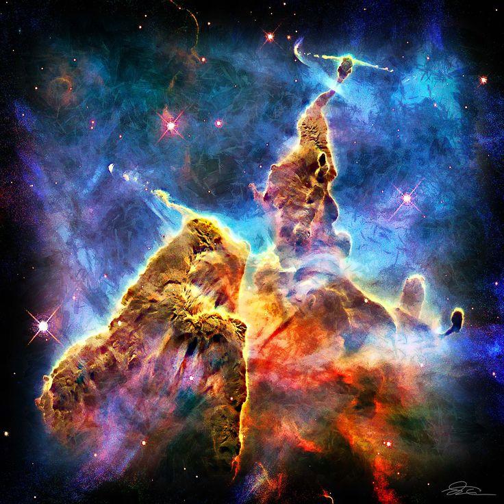 mountain snow galaxy nebula - photo #14