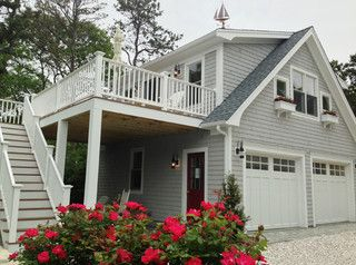 Detached Garage with deck & Loft - Traditional - Garage And Shed - boston - by Capewide Enterprises