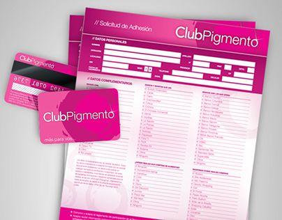 "Check out new work on my @Behance portfolio: ""Club Pigmento 