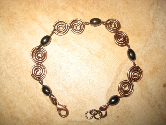 Therapeutic  Magnetic Hematite  and Antique by KiCrystalCreations, $18.00
