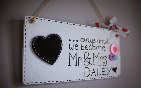 Mr & Mrs Wedding Countdown by yourbridesmade on Etsy
