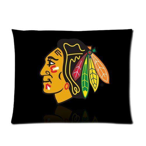 Чикаго Блэкхокс Нхл Хоккей Логотип Фон Отпечатано Индивидуальный Наволочки 20x26 (одна сторона)