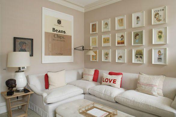 Quadros com imagens ou fotos criam um excelente efeito de decoração