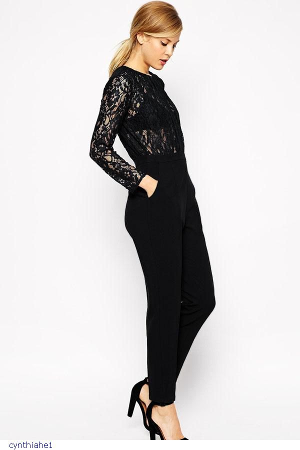 Cheap jumpsuit denim, Buy Quality jumpsuit pant directly from China jumpsuit  black Suppliers: Formal Black Lace Women Jumpsuits New Style One Piece  Bodysuit ...