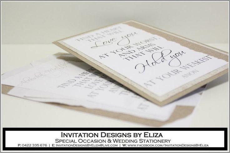 Poem Design {Wedding} Natural County Eco Theme - www.facebook.com/InvitationDesignsByEliza