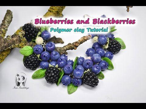 DIY bracelets Tutorials - Handmade Polymer Clay Blueberry Bracelet - YouTube