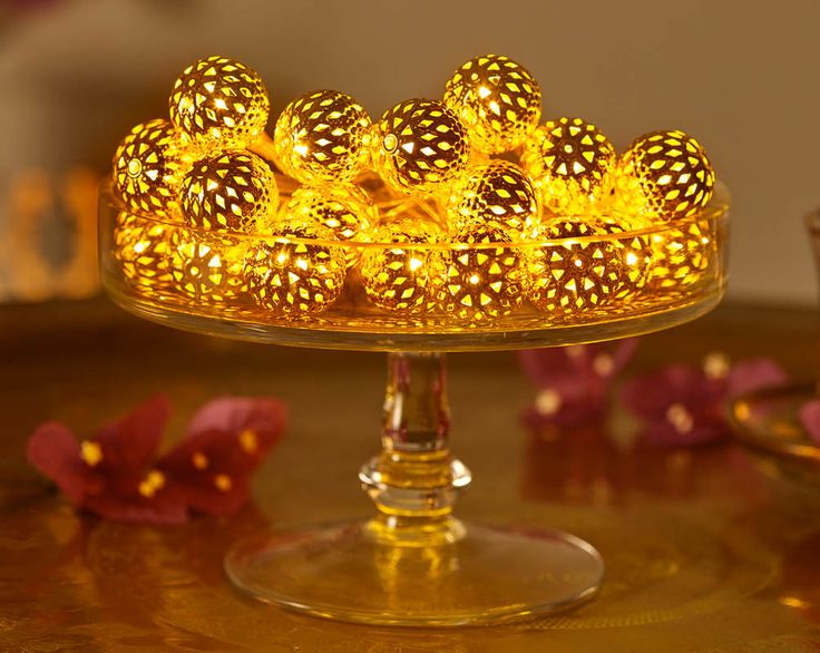 Buy the Moroccan Ball String Lights From K Life. FREE DELIVERY on orders over £50.