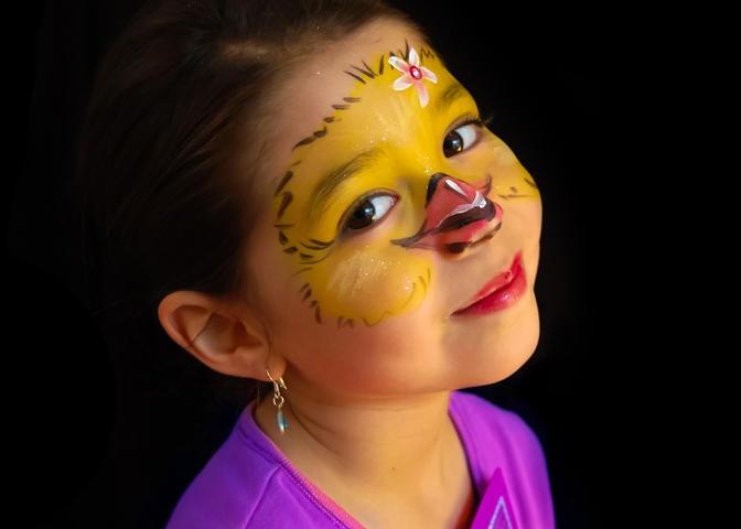 Chicken Cheek Face Paint