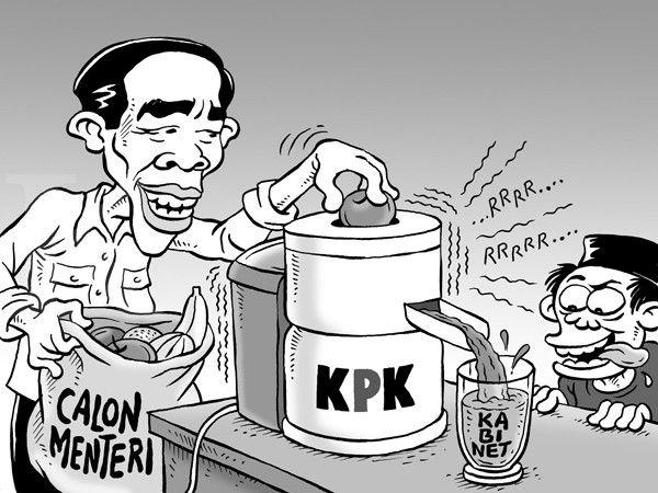 Kartun Benny, Kontan - Oktober 2014: Benny Rachmadi - Memilih Calon Menteri Yang Lolos Pemeriksaan KPK