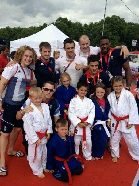 London Olympics  NCMA club members with Team GB Judo  newcrossmartialarts.com