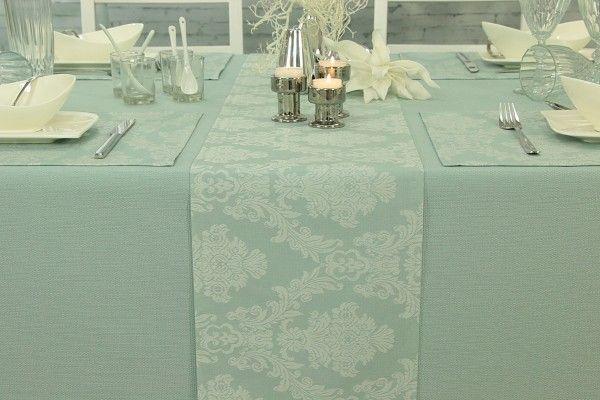 Tischlaufer Abwaschbar Pastell Mint Muster Classik Breite 40 Cm Tischlaufer Tischlaufer Grun Tisch