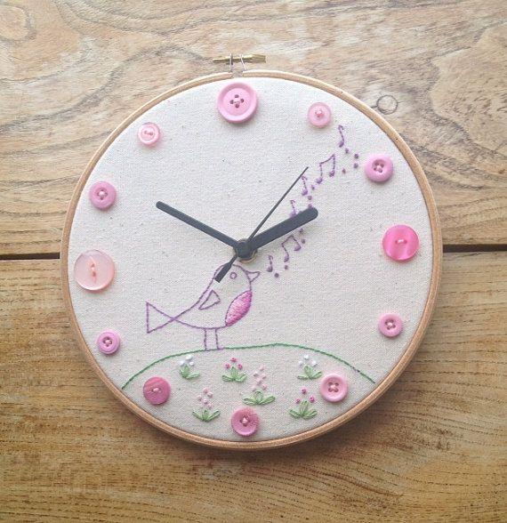 Best images about hoop art clocks on pinterest