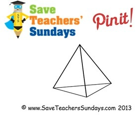 Triangular pyramid (transparent) - http://www.saveteacherssundays.com/maths/year-3/105/prisms-and-pyramids/ for more prisms and pyramids, prisms and pyramids worksheets, prisms and pyramids lesson plans, prisms and pyramids  powerpoints and other prisms and pyramids teaching resources #triangular pyramid, #pyramid, #shapes, #3D, #polyhedron, #maths, #math,  #teaching, #teachers, #teacher, #tutors, #tutor, #teach, #education, #learn, #learning, #primary, #elementary, #KS1, #KS2