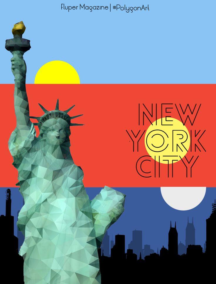 A Day in New York City, Flat Illustration. #PolygonArt