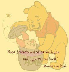 Winnie the Pooh on good friends