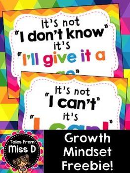Growth Mindset Posters {FREEBIE!}