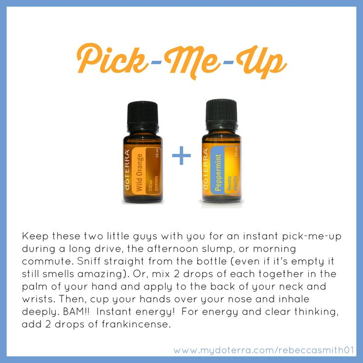 doTERRA Essential Oils Pick-Me-Up - My FAVORITE combination ever!!  I could diffuse this all day long!