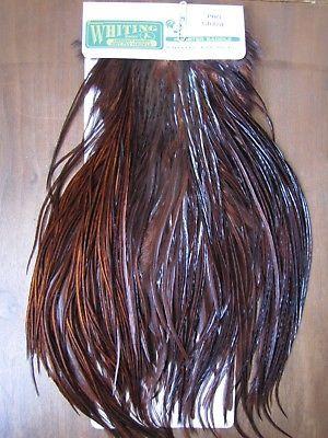 Angelsport-Fliegen-Bindematerialien Fly Tying Whiting Gold Rooster Saddle White #B Angelsport-Köder, -Futtermittel & -Fliegen