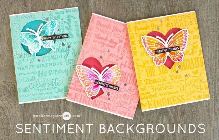 Hello! Today's video is packed full of info. Not only do I share how to create a sentiment background, I also show how I color on the go. AND... this post is also part of a fun blog hop with giveaways!