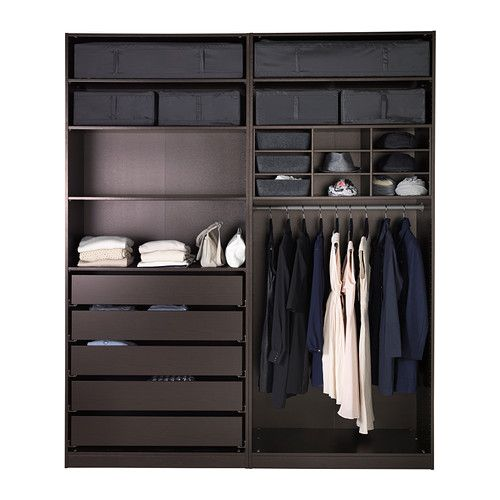 Pax wardrobe black brown sekken frosted glass dark - Accesorios armarios ikea ...