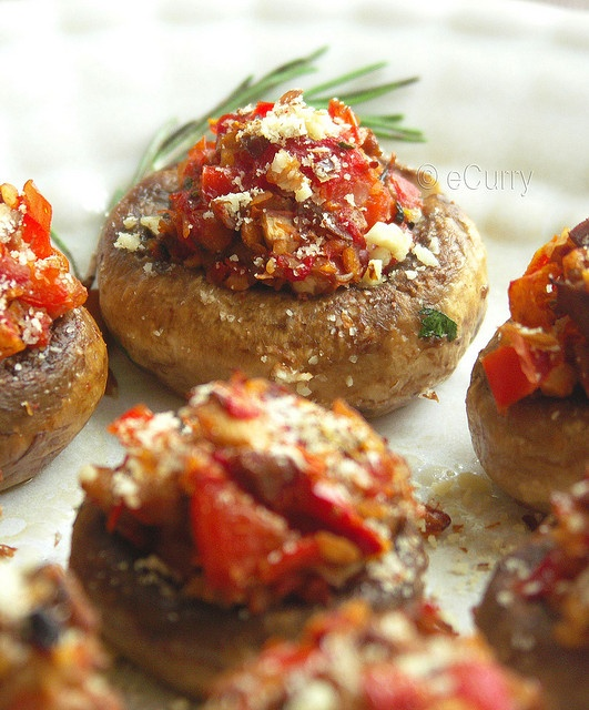 Sundried Tomato Stuffed Mushrooms Recipe — Dishmaps