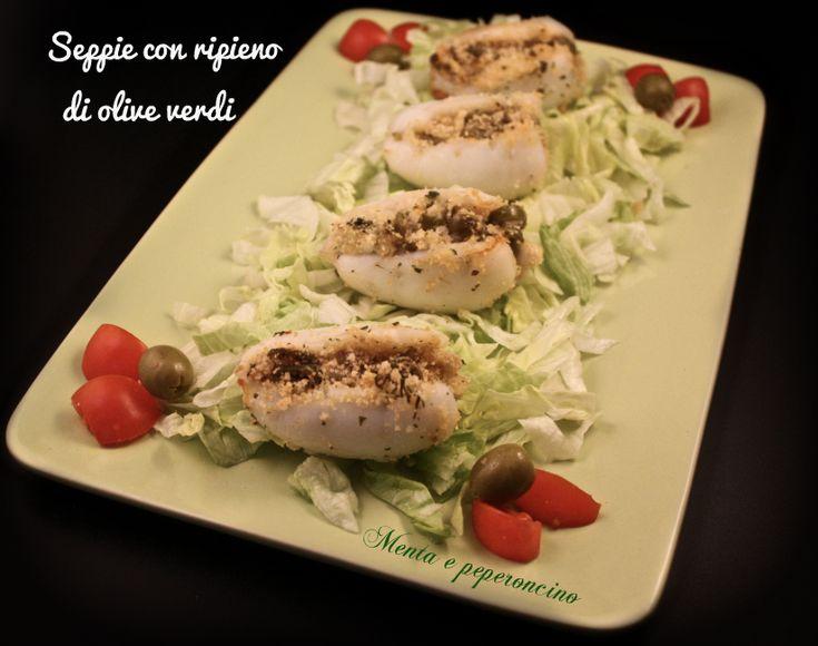 Seppie con ripieno di olive verdi