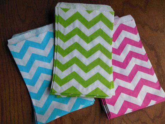 Chevron Paper Bags for Candy Favors and Gifts  20 by JustPackaging, $5.00
