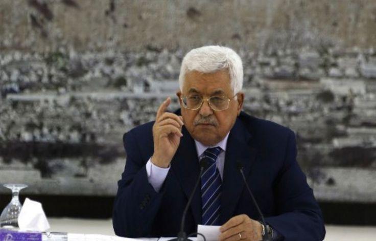 Le président palestinien, Mahmoud Abbas, s'exprime lors d'une réunion à Ramallah, le 25 juillet 2017. – ABBAS MOMANI / AFP