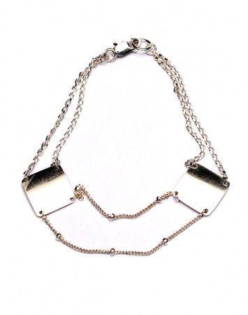 Petite Grand Silver Double Chain Bracelet