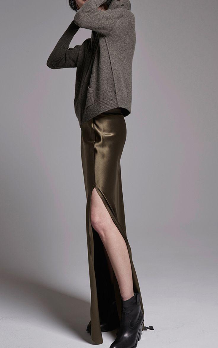 Maya Silk Slit Maxi Skirt by Nili Lotan | Moda Operandi