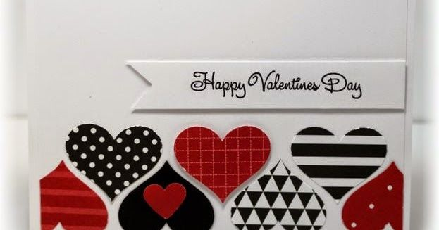 The card - easy peasy! The hearts are punched out of printed paper. The sentiment is stamped on a flagged strip and popped up!   Winding...