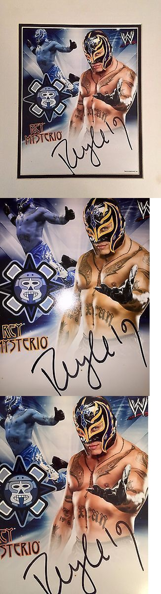 Other Autographed Wrestling 2845: Wwe Rey Misterio Autograph Poster -> BUY IT NOW ONLY: $400 on eBay!