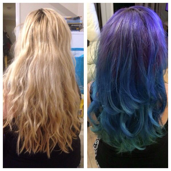 Having a bit of fun with my mums hair! #mermaid #crazycolour