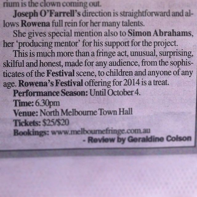 """@rowenahutson's photo: """"The Melbourne Observer being really rather lovely. Four shows left!! #mfringe #spacegeek"""""""