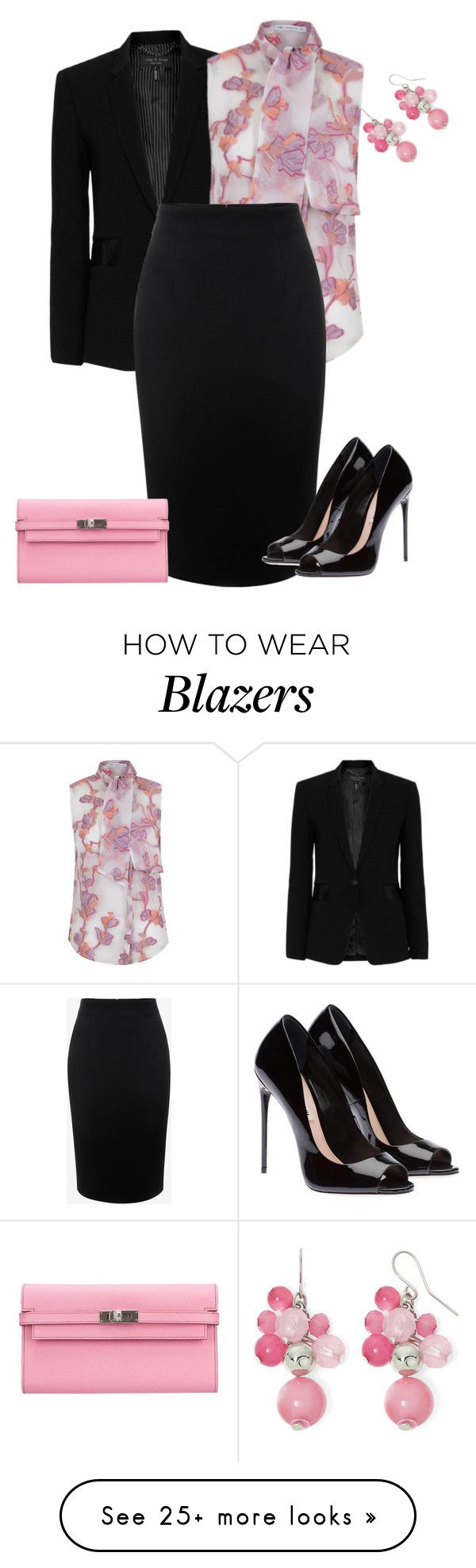 """""""outfit 3672"""" by natalyag on Polyvore featuring rag & bone, The 2nd Skin Co., Alexander McQueen, Hermès and Mixit"""