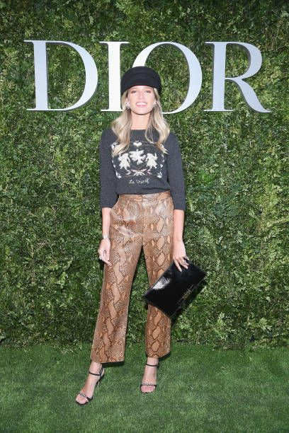 Helena Bordon attends 'Christian Dior couturier du reve' Exhibition Launch celebrating 70 years of creation at Musee Des Arts Decoratifs on July 3...