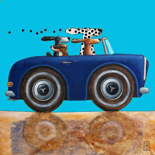045 MERCEDES 230 SL  signed and numbered giclee print  14 by edart, $18.00