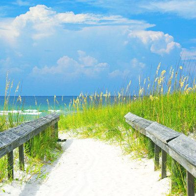 Gulf Shores, Alabama: Together with neighboring Orange Beach, Gulf Shores is part of 32 miles of white sand that edges the clear and glistening Gulf of Mexico on Alabama's southern coast. The sand itself is comprised almost entirely of quartz crystals that washed down from the Appalachian mountains, thousands of years ago. Coastalliving.com