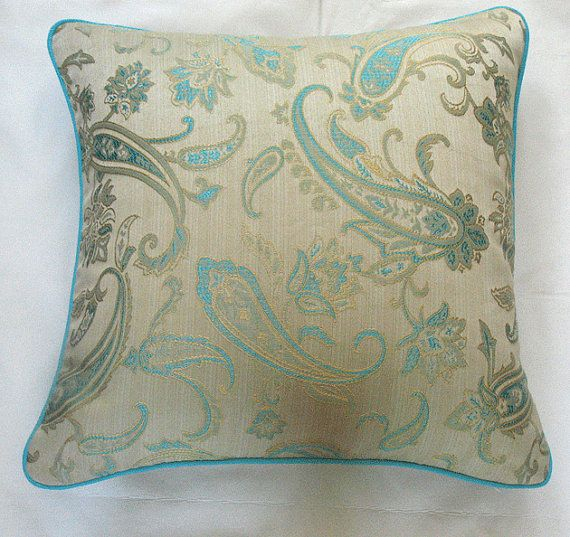 9 best images about blue pillows on Pinterest Embroidery, Peacocks and Cream throws