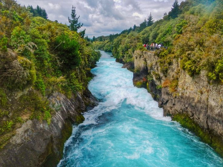 12 Incredible Places in New Zealand Not To Miss http://lostboymemoirs.com/12-incredible-places-in-new-zealand-not-to-miss/  Huka Falls just outside of Taupo, New Zealand is a must-see simply because of the deep blue and turquoise rushing water. Nothing else like it.