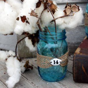 Easy Rustic Mason Jar Decorations