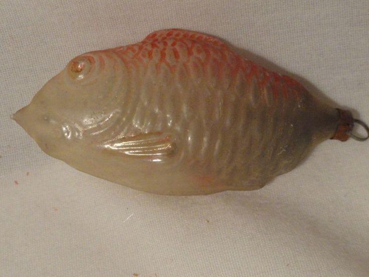 Glass Fish Christmas Tree Ornament Vintage