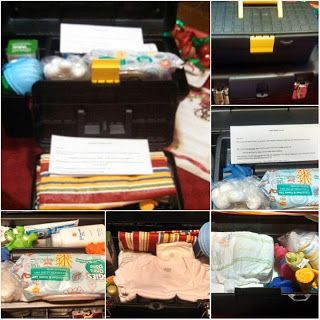 Daddy Diaper Changing Tool Box pictures, contents and list/letter to dad
