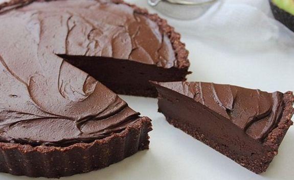 Σοκολατένια+τάρτα+με+ταχίνι+νηστίσιμη