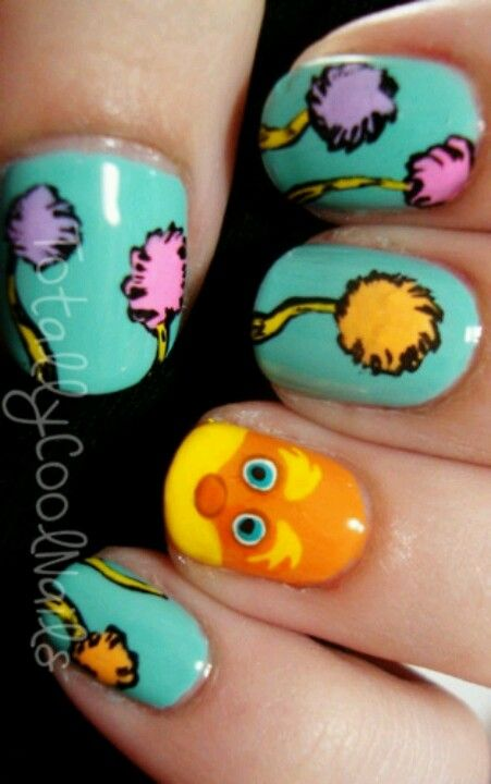 The lorax- these will be Aunty B's nails for the party